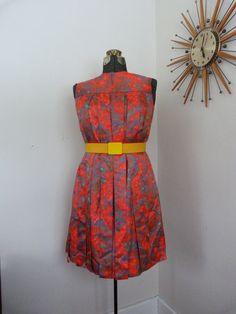 Lovely 1960's Mod Maternity Dress Tendril Maternity Dress Vintage Mad Men Rare Jack Margolese Designer.