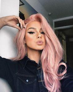50 Winged Eyeliner Looks Ideas Pastel hair colors Pastel Pink Hair, Long Pink Hair, Pink Blonde Hair, Dusty Pink Hair, Baby Pink Hair, Dyed Hair Pink, Pastel Hair Colors, Pretty Pastel, Girl With Pink Hair