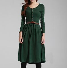 green black long dresss lim fit nice quality green long dress spring / autumn / winter dress women dress Long sleeve dress women clothing