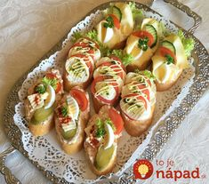 Cheese Recipes, Appetizer Recipes, Cooking Recipes, Tapas, Modern Food, Brunch Buffet, Czech Recipes, Appetisers, Finger Foods