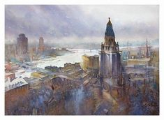20 Amazing Watercolor Paintings by Thomas W. Schaller | Art of Day