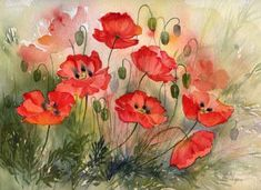 """Field Poppies"" ~ Rachel McNaughton"