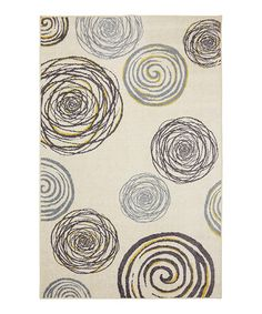 Take a look at this Yellow Swirlz Rug by Mohawk Home on #zulily today!