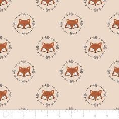 Fox in Ivory - Wilderness - Quilting Cotton - 1/4 Metre – The Fabric Snob