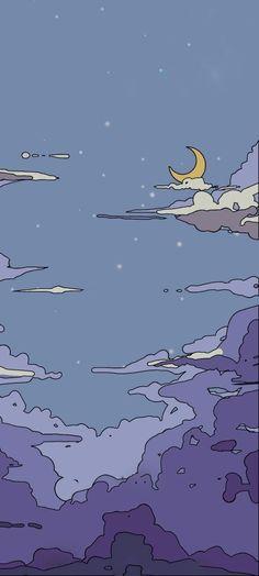 Aesthetic Desktop Wallpaper, Anime Scenery Wallpaper, Iphone Background Wallpaper, Cute Anime Wallpaper, Galaxy Wallpaper, Pretty Wallpapers, Cute Cartoon Wallpapers, Animes Wallpapers, Wallpaper Bonitos