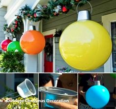 19 brilliant ideas for outdoor christmas decorations 1 giant christmas lollipops