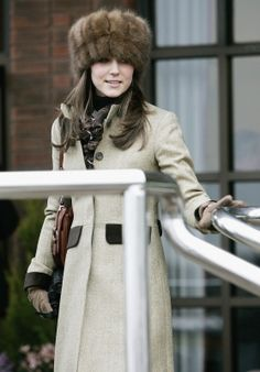 Kate Middleton rocking a fur hat.