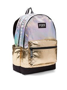 New (never used), BRAND NEW Victoria's Secret PINK Iridescent Holographic Backpack SOLD OUT ONLINE- Beautiful campus backpack still in packaging. Girly Backpacks, Cute Backpacks For School, Silver Backpacks, Cute Mini Backpacks, Trendy Backpacks, Little Backpacks, Backpacks For Sale, Mini Backpack Purse, Backpack For Teens