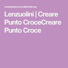 Lenzuolini | Creare Punto CroceCreare Punto Croce