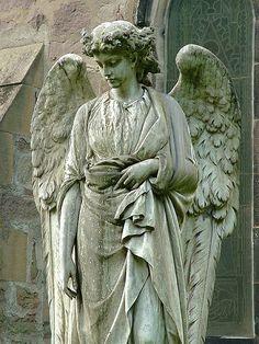 Statue in St. Hubert's churchyard, Dunsop Bridge, Lancashire, UK