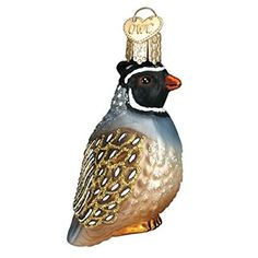 Old World Christmas Partridge Glass Blown Ornament
