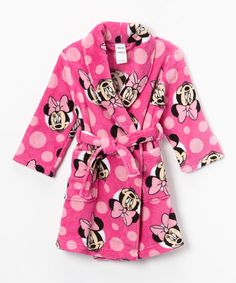 Another great find on #zulily! Minnie Mouse Robe - Toddler #zulilyfinds