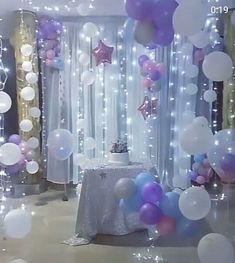 67 ideas party decorations diy birthday photo booths for 2019 Balloon Backdrop, Balloon Decorations, Birthday Party Decorations, Balloon Garland, Backdrop Lights, Hanging Balloons, Purple Party Decorations, Wedding Decorations, Unicorn Birthday Parties