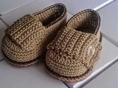 Mocasín Bebé a Crochet - Rosa Forno Collection - YouTube