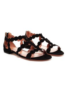 Browns fashion & designer clothes & clothing | AZZEDINE ALAÏA | Scalloped Suede Sandals