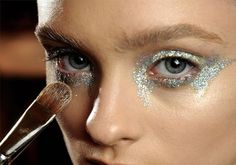 Futuristic angel glitter eyeshadow