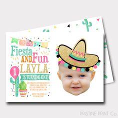Fiesta Birthday Invitation | Fiesta Party | Photo Invitation | Cactus Invitation | First Birthday | Spanish Birthday Invitation | Taco Party by PristinePrintCo on Etsy https://www.etsy.com/listing/478786935/fiesta-birthday-invitation-fiesta-party