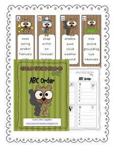 Teach With Laughter: Groundhog Day ABC Freebie