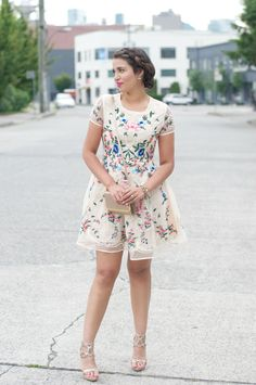 Gumboot Glam - Vancouver Based Style and Beauty Blog by Ally Soeker : Floral Organza Dress