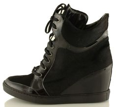 botki baldowski d01059/snik/004 czarny koń/lakier Wedges, Sneakers, Model, Shoes, Fashion, Tennis, Moda, Slippers, Zapatos
