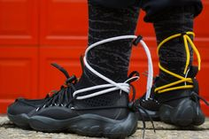 The Reebok x Pyer Moss DMX Fusion 1 Experiment Black is a totally fashion forward shoe with a highly engaging and puzzling look. Reebok, Slip On Sneakers, Shoes Sneakers, Feet Images, Sneaker Bar, Comfort Design, Friends Family, Shoes Online, Fashion Forward