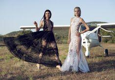 Transparencias, tul y mucho movimiento en la colección Gala 2015 de Charo Ruiz #vestidosdefiesta #moda #tendencias