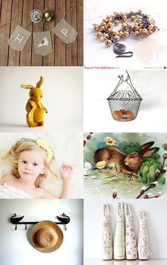 Beautiful collection of #etsy finds. #Vintage, #jewelry, #kids #bunny, #handmade, and more.  Hoppin Down The Bunny Trail by Mary Clift on Etsy--Pinned with TreasuryPin.com