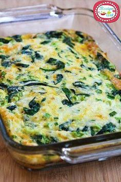 and Mozzarella Egg Bake (Video) Recipe for Spinach and Mozzarella Egg Bake. Want to use some provolone in place of some mozzarella.Recipe for Spinach and Mozzarella Egg Bake. Want to use some provolone in place of some mozzarella. Healthy Dinner Recipes For Weight Loss, Healthy Snacks, Healthy Recipes, Diet Snacks, Ketogenic Recipes, Delicious Recipes, Yummy Food, Supper Recipes, Brunch Recipes