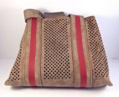 Authentic Pedro Garcia Castoro Oak Perforated Suede Shoulder Tote MSRP $695 #PedroGarcia #TotesShoppers