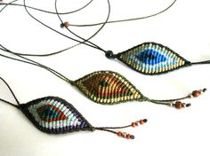 Macrame eye necklace/Evil eye macrame/Macrame necklace/Macrame jewelry/Bohemian jewerlyMicromacrame