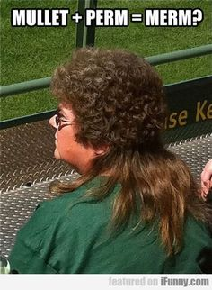 Mullet + Perm = Merm? Or is it Perm + Mullet = Pullet?  It's actually Oh + My + God.