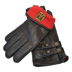 Awesome Goldtop Black Leather Twin Strap Cafe Racer Style Fleece Lined  Motorcycle Gloves e930439b10