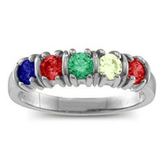 Classic Separated 2-5 Stones Mother's Ring #jewlr