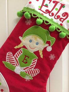 gingerbread boy girl christmas stocking custom made by pam on etsy httpswwwetsycomcustommadebypam christmas stockings pinterest gingerbread