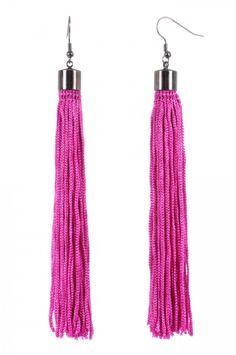 Tassel Earrings from Jay Godfrey in Fuchsia