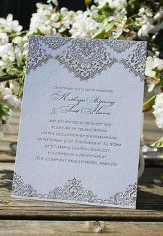 """Lorenza"" - Strawberry Sorbet wedding stationary"