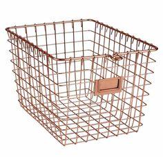 Metal Storage Wire Basket - Copper Finish  $16
