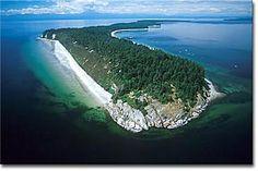 Sunny Sandy Savary Island, British Columbia