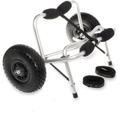 The Wheeleez Tuff Tire kayak cart schleps your boat to the water so you can concentrate on taking it easy and prepping your gear. Available at REI, 100% Satisfaction Guaranteed.