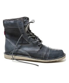 Look what I found on #zulily! Dark Gray Ngola Leather Boot - Men #zulilyfinds