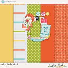 FREE All in the Details 3 - NSD 2016 Blog Train at Plain Digital Wrapper by Southern Creek Designs