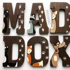 Wooden Letters for Nursery Woodland Nursery Decor Hand Painted Wood Letters Woodland Creatures Free Standing Letters Nursery Fox Deer 2019 Wooden Letters for Nursery Woodland Nursery Decor Hand Baby Girl Nursery Themes, Baby Boy Rooms, Baby Room Decor, Nursery Ideas, Nurseries Baby, Wooden Letters For Nursery, Painting Wooden Letters, Baby Room Letters, Woodland Creatures Nursery