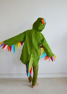Papagei Papageno vogel - Kostüm 2-8 Jahre