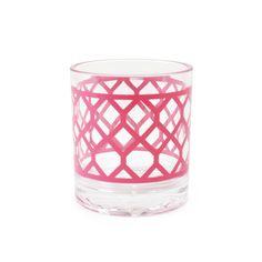 Jonathan Adler Pink Positano Rocks Glass in Sale