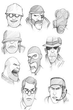 sketches - Team Fortress 2 by PatBanzer.deviantart.com on @deviantART