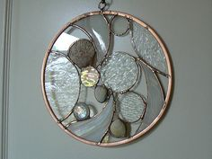 Clear Textured Circles with Sea Shells by Designed With Glass, via Flickr