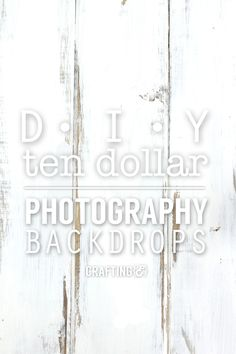 DIY $10 wood photography backdrop tutorial! Great photography set up.