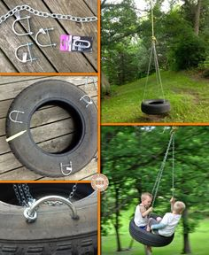 Here's a simple DIY project that will bring lots of fun into your backyard!  Why not make this DIY tire swing.
