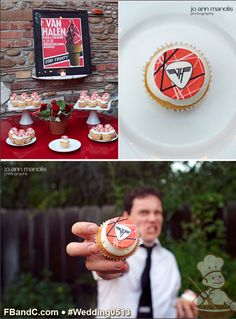 Design W 0513 | Cupcakes with Custom Van Halen Fondant Decoration | Custom Quote