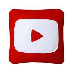 Oreiller de YouTube par Craftsquatch sur Etsy